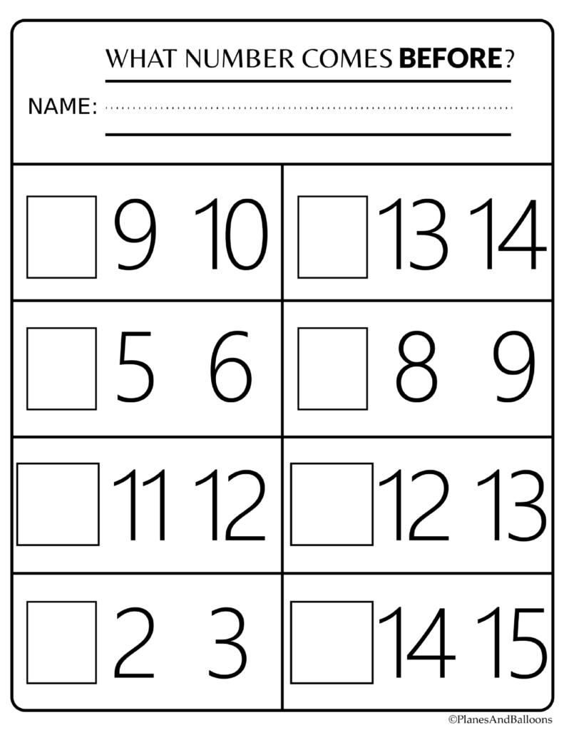 Number Order Kindergarten Free Printable Worksheets: Numbers 1-20 - Free Printable Numbers 1 20