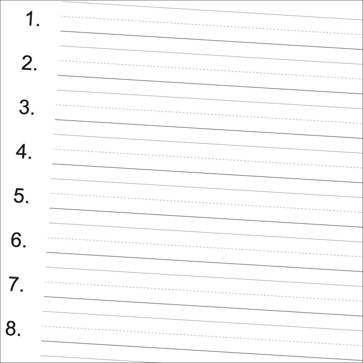Numbered Printable Handwriting Paper Great For Spelling Tests - Free Printable Handwriting Paper