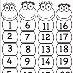 Numbers 1 20 | Printable Worksheets | Numbers Preschool, Preschool   Free Printable Numbers 1 20