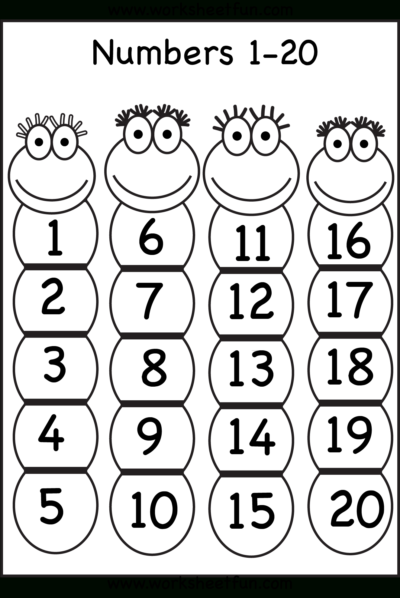 Numbers 1-20 | Printable Worksheets | Numbers Preschool, Preschool - Free Printable Numbers 1 20