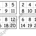 Numbers Bingo Cards (From 1 To 20)   Esl Worksheetcreguen   Free Printable Number Bingo Cards 1 20