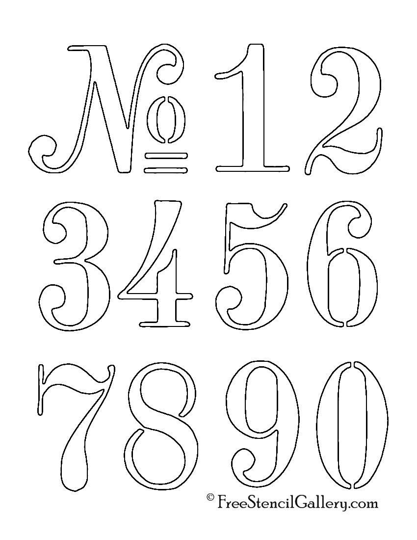 Numbers Stencil … | Outdoor Decor | Lette… - Free Printable Fancy Number Stencils