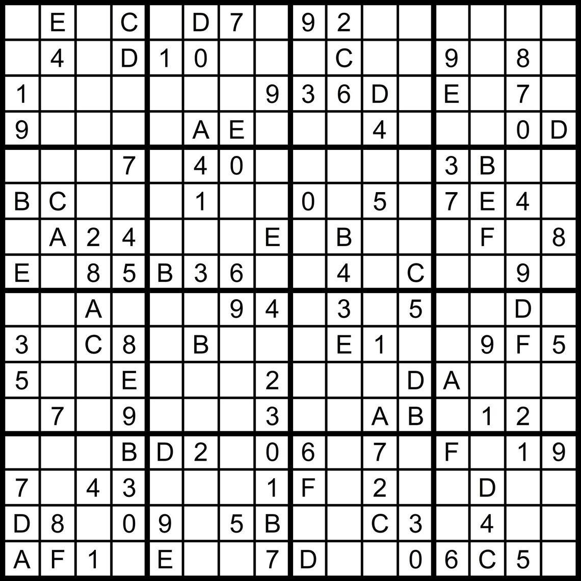 Numbers Super Challenger Sudoku Print | Www.topsimages - Free - Free Printable Super Challenger Sudoku