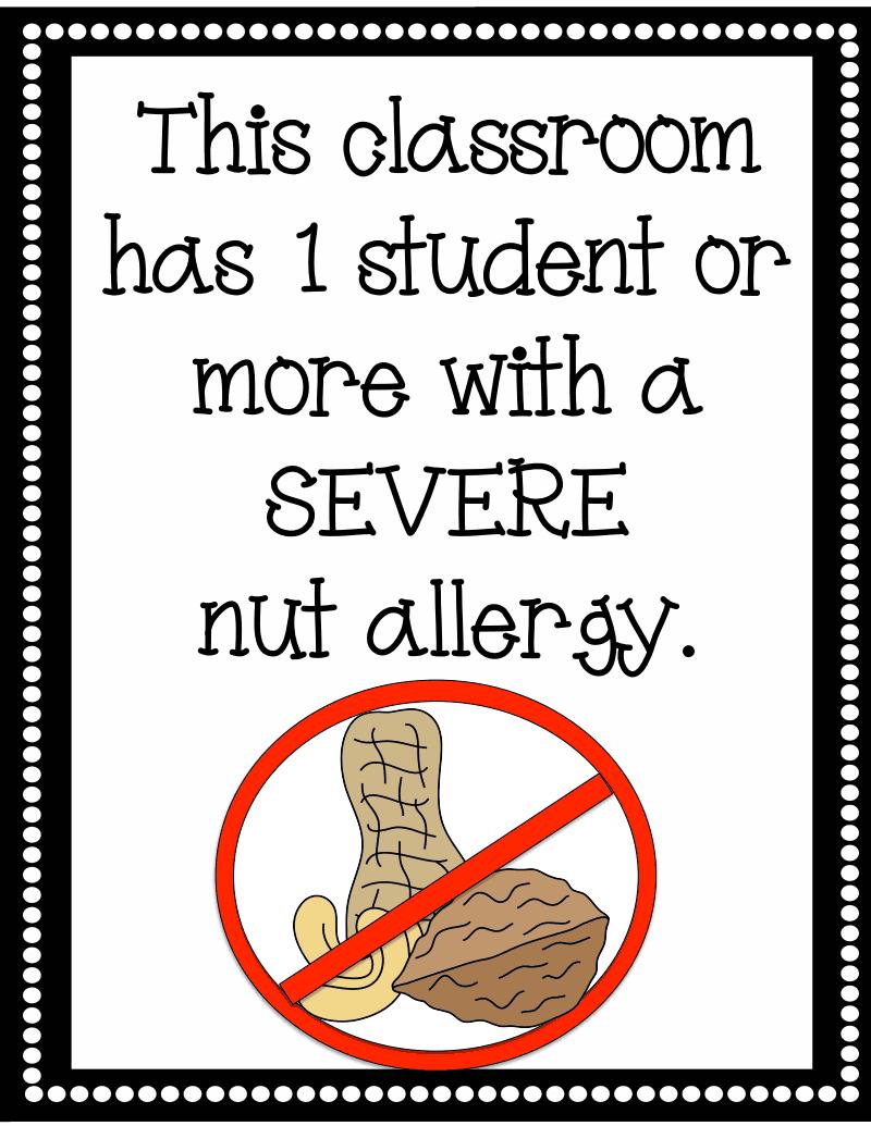 Nut Allergy Sign.pdf - Google Drive   Kindergartenklub   Peanut - Printable Peanut Free Classroom Signs