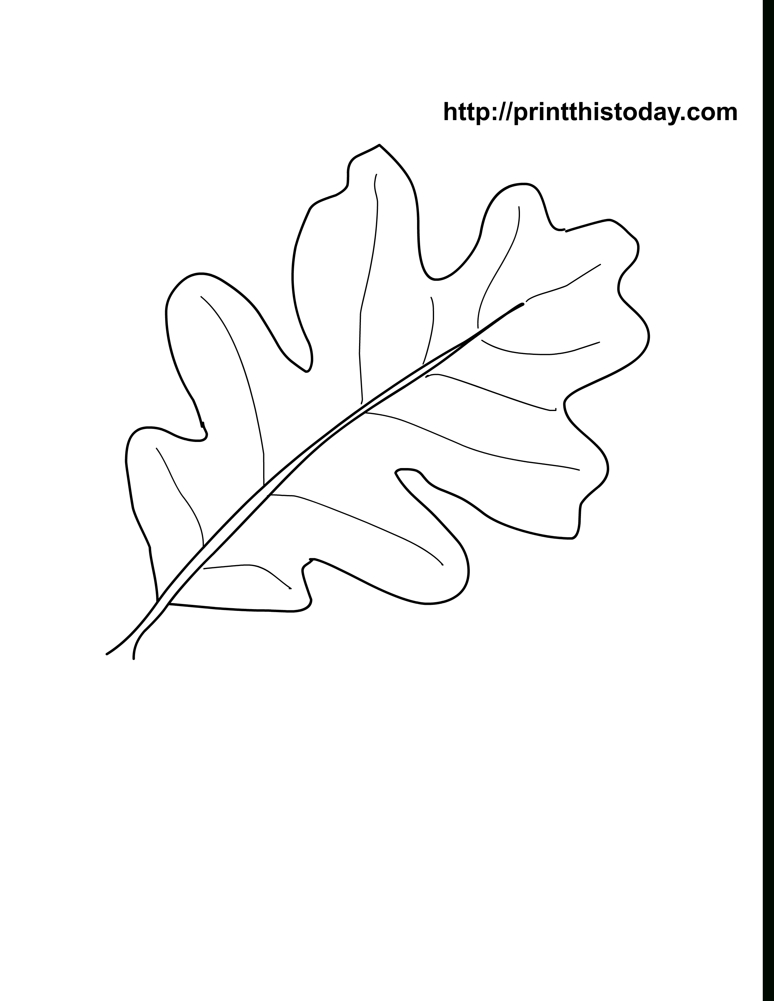 Oak Leaves Coloring Pages Printable | Craft Ideas | Leaf Coloring - Free Printable Oak Leaf Patterns