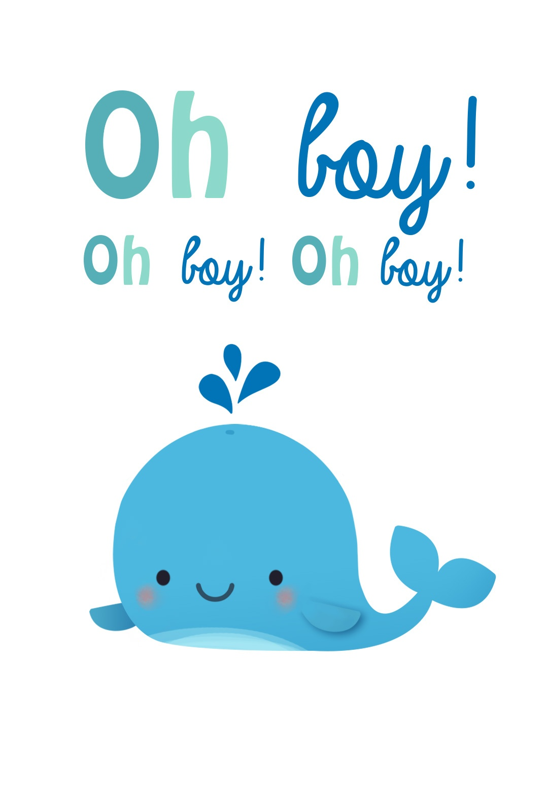 Oh Boy - Baby Shower & New Baby Card | Greetings Island - Free Printable Baby Boy Cards
