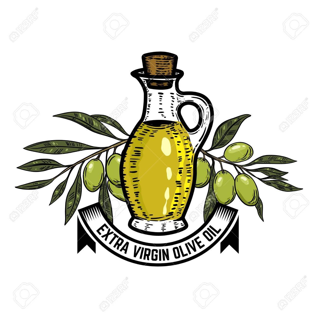 Olive Oil Label Template. Olive Branch. Design Elements For Logo - Free Printable Olive Oil Labels