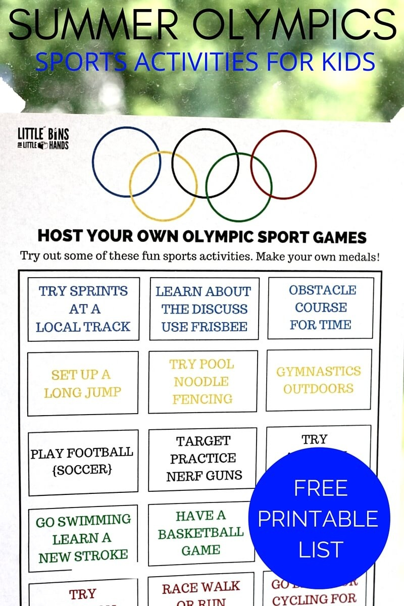 Olympic Sports Activities Printable For Kids Summer Olympics - Free Printable Summer Games