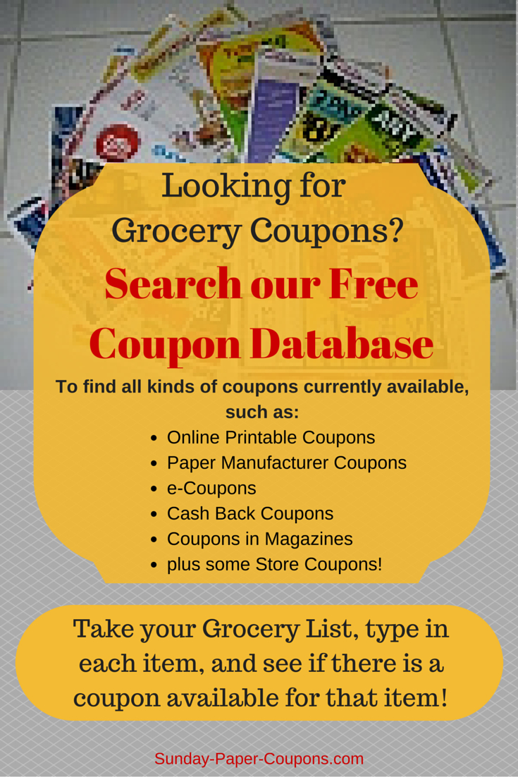 Online Coupon Database Free Grocery Coupons - Free Printable Chinet Coupons