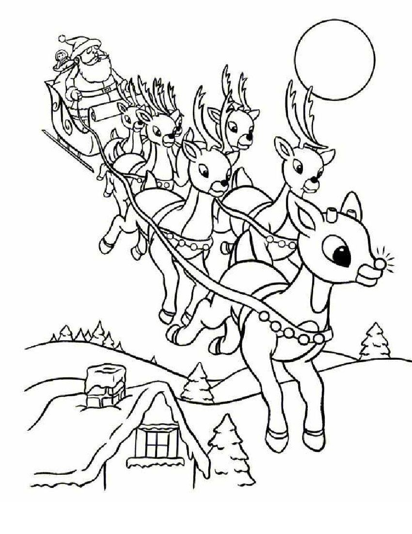 Online Rudolph And Other Reindeer Printables And Coloring Pages - Xmas Coloring Pages Free Printable
