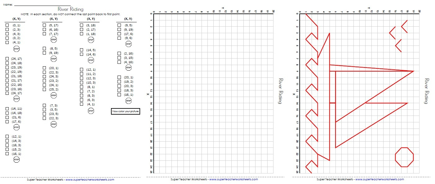 Ordered Pairs And Coordinate Plane Worksheets - Free Printable Coordinate Grid Worksheets