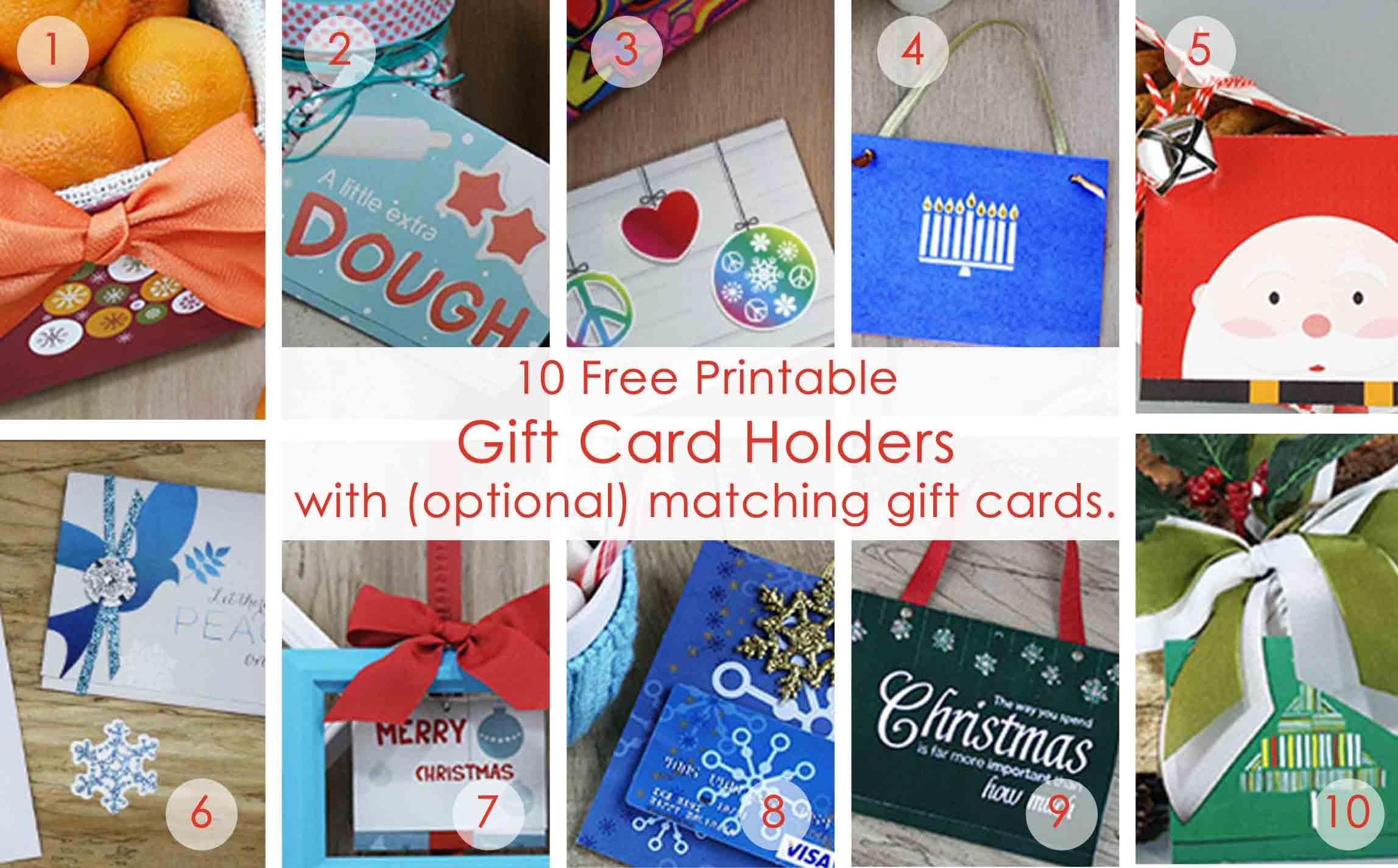 Over 50 Printable Gift Card Holders For The Holidays   Gcg - Free Printable Christmas Money Holders