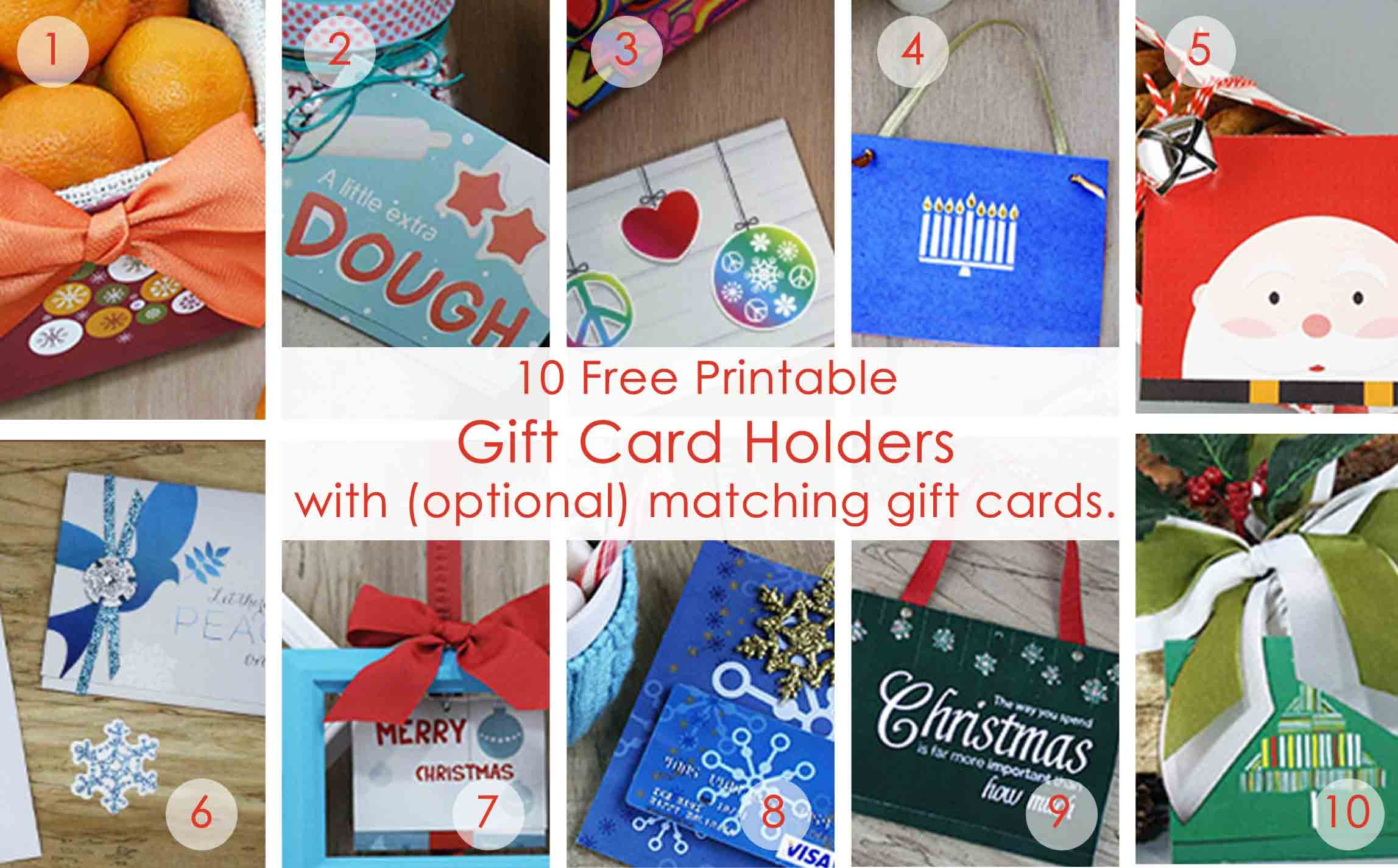 Over 50 Printable Gift Card Holders For The Holidays | Gcg - Free Printable Money Cards For Birthdays