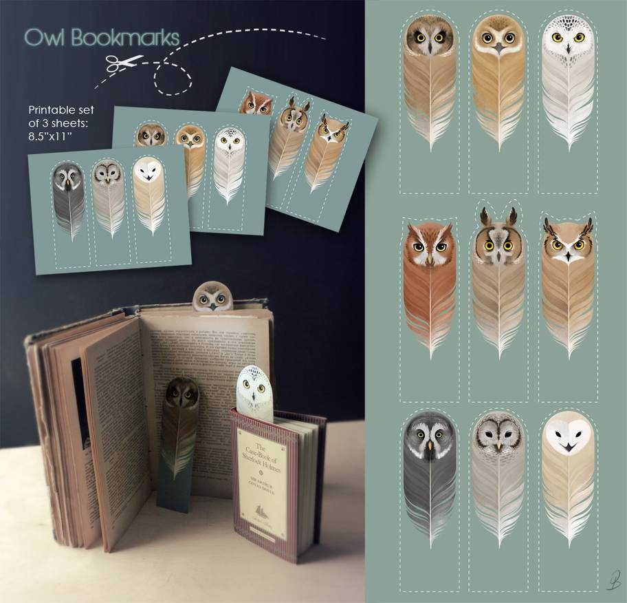 Owl Bookmarkssash-Kash On Deviantart - Free Printable Owl Bookmarks