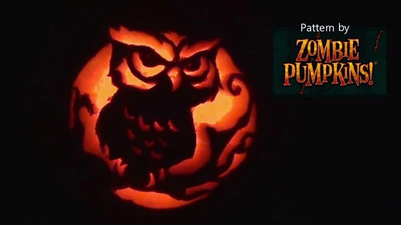 Owl Pumpkin Carving | Hallow's Eve - Scary Pumpkin Stencils Free Printable