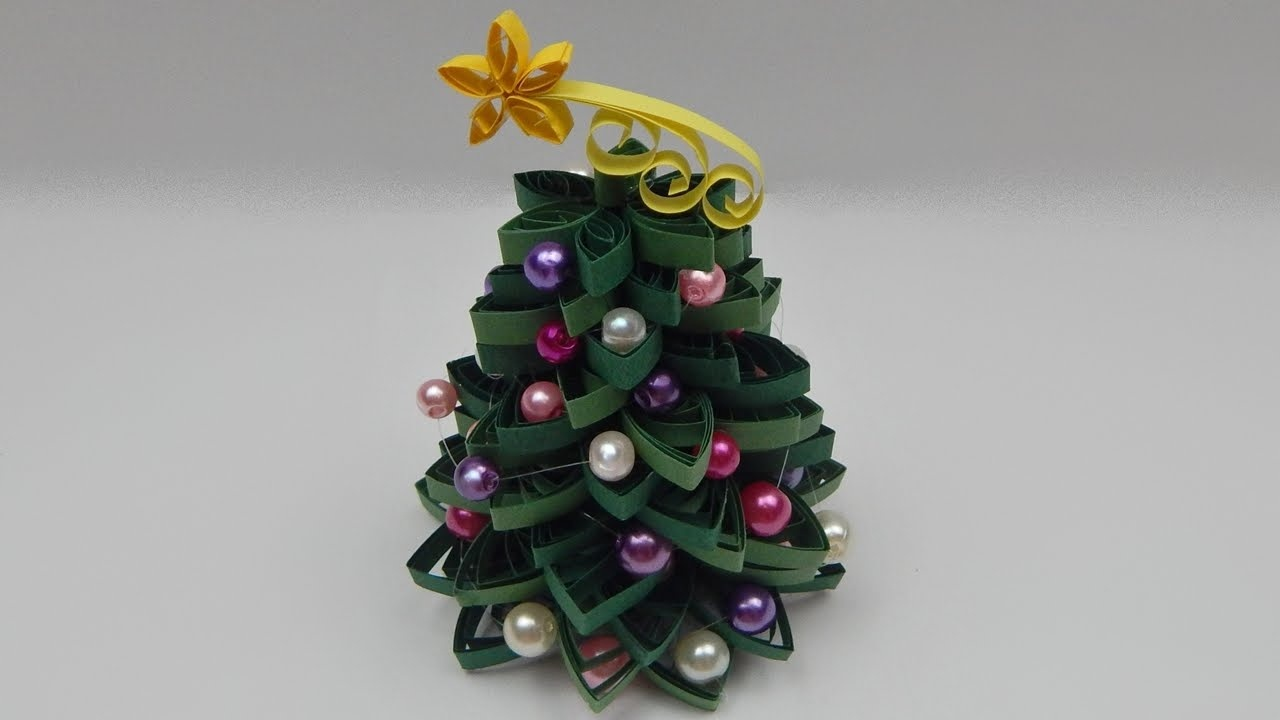 Paper Quilled Christmas Trees - Red Ted Art - Free Printable Quilling Patterns Designs