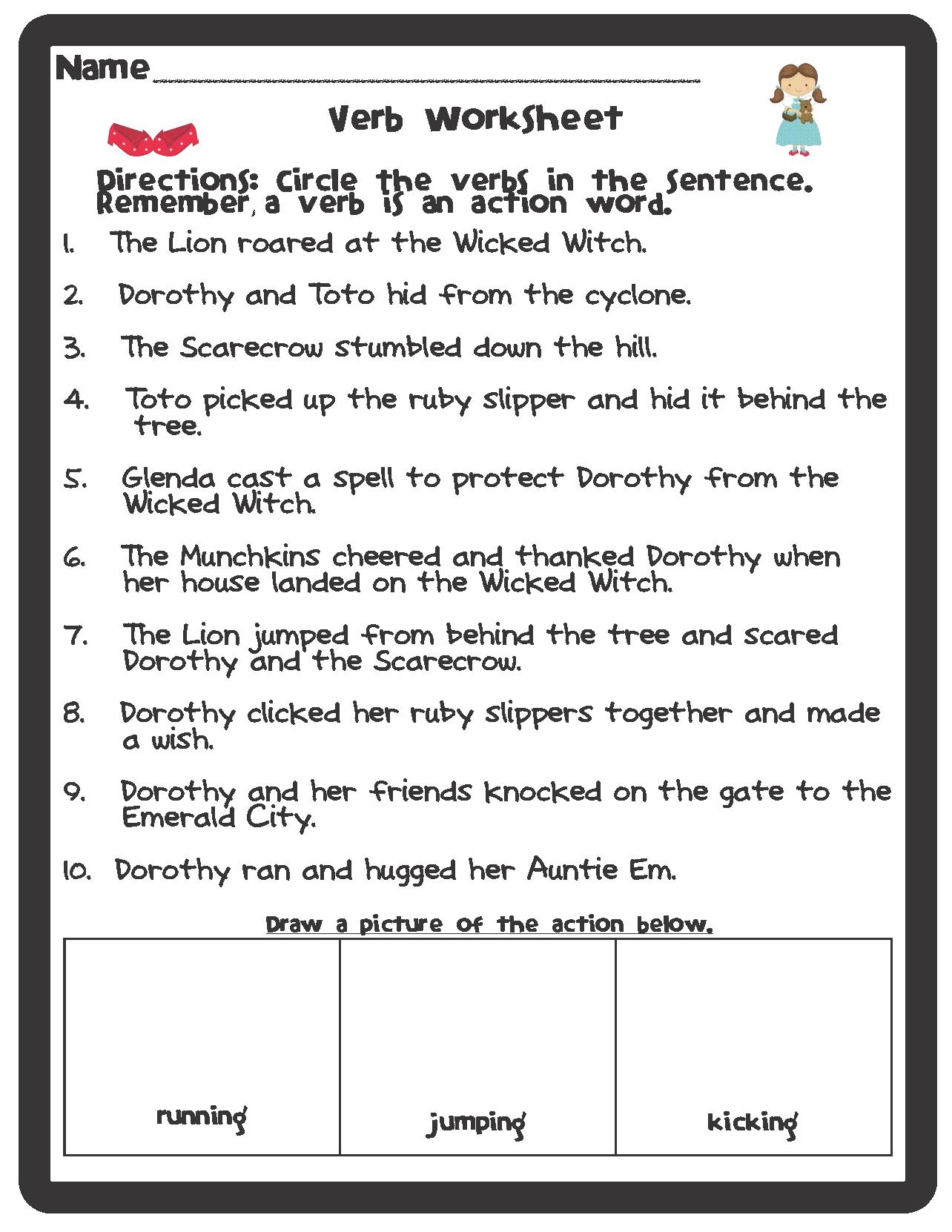 Free Printable Parts Of Speech Worksheets   Free Printable