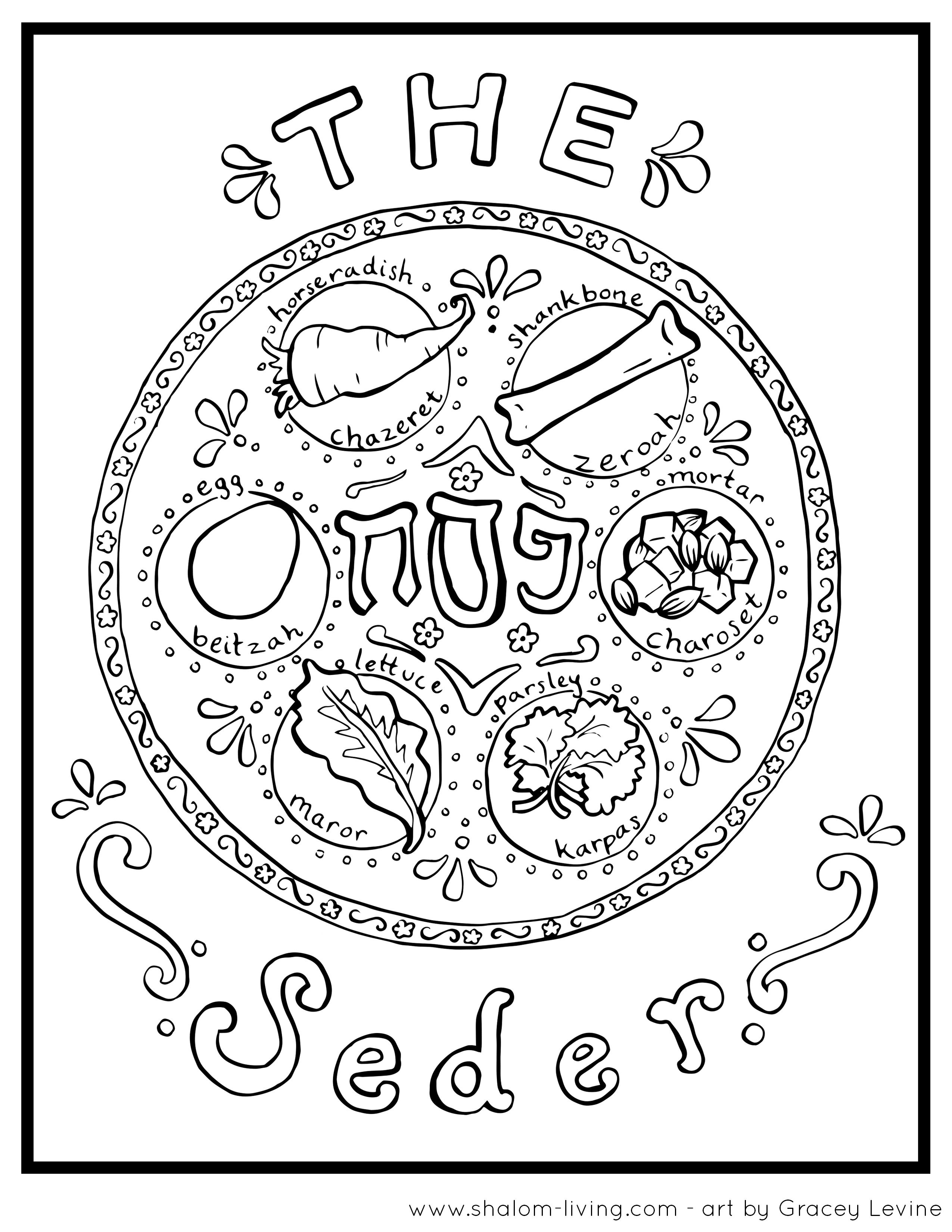 Passover Seder Plate Coloring Page Passover Coloring Page | Holy Day - Free Printable Messianic Haggadah