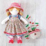 Pattern: Printable Rag Doll Sewing Pattern | Sewing | Doll Sewing   Free Printable Cloth Doll Sewing Patterns