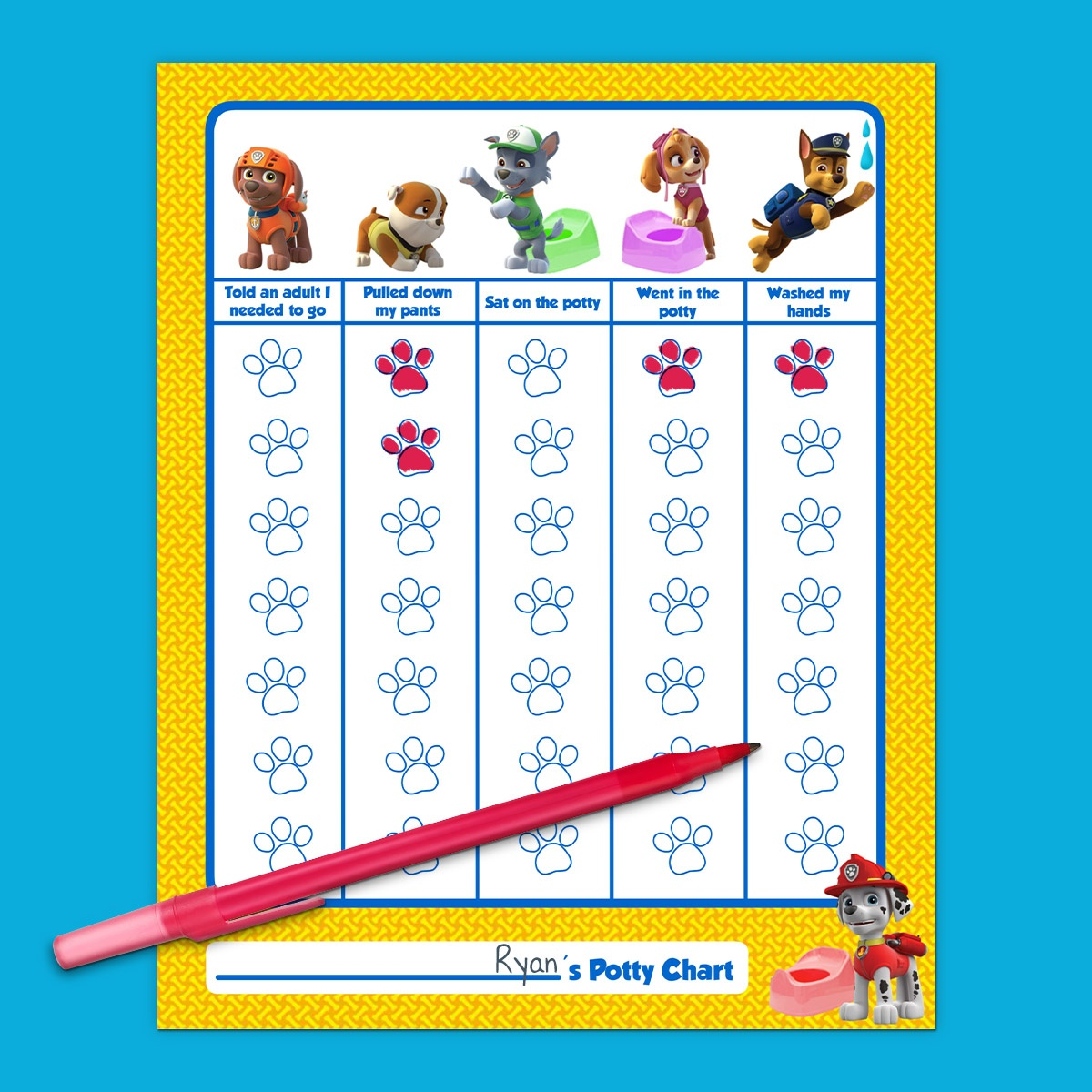 Paw Patrol Potty Training Chart | Nickelodeon Parents - Free Printable Potty Charts