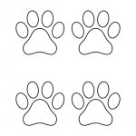 Paw Print Template Shapes | Blank Printable Shapes   Free Shape Templates Printable