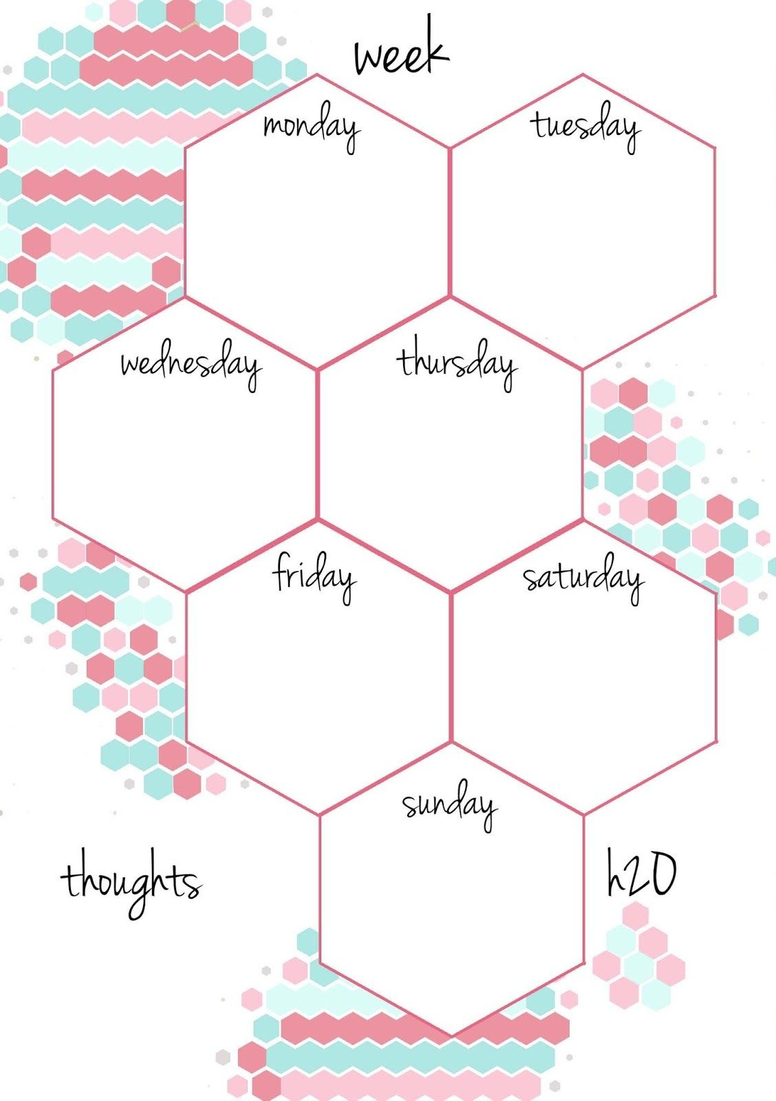 Pb And J Studio: Free Printable Planner Inserts Candy Hexagon In A5 - Free Printable Organizer 2017
