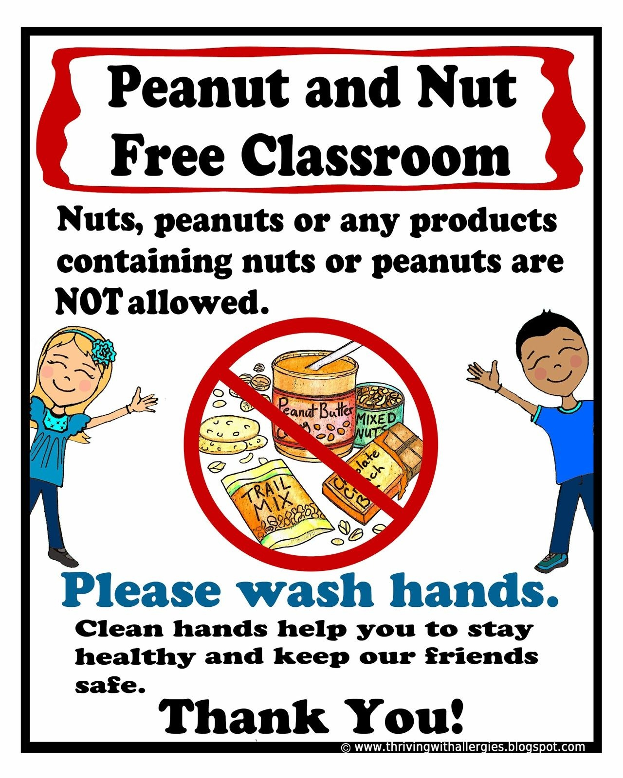 picture regarding Free Printable Classroom Signs and Labels called Nut Allergy Signal.pdf - Google Motivation Kindergartenklub