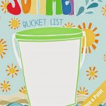 Pen & Paint: Free Printable & Coloring Page   Summer Bucket List   Free Printable Summer Pictures
