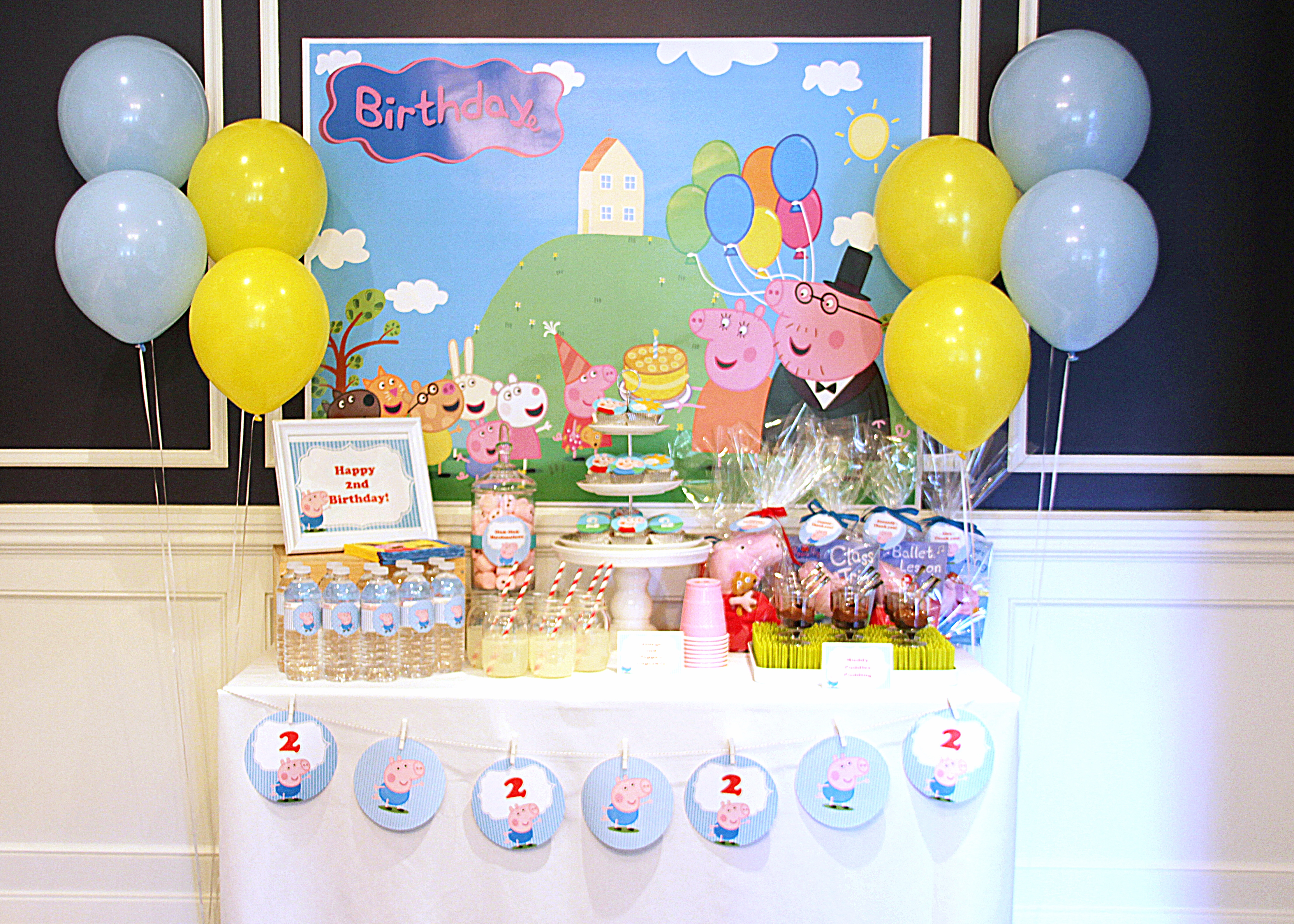 Peppa And George Pig Birthday Party – Part 1 / - Peppa Pig Birthday Banner Printable Free