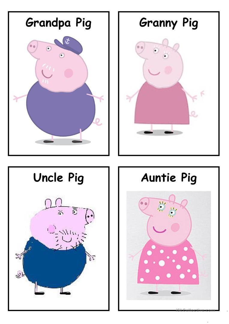 Peppa Pig - Characters (Set 2) Worksheet - Free Esl Printable - Peppa Pig Character Free Printable Images
