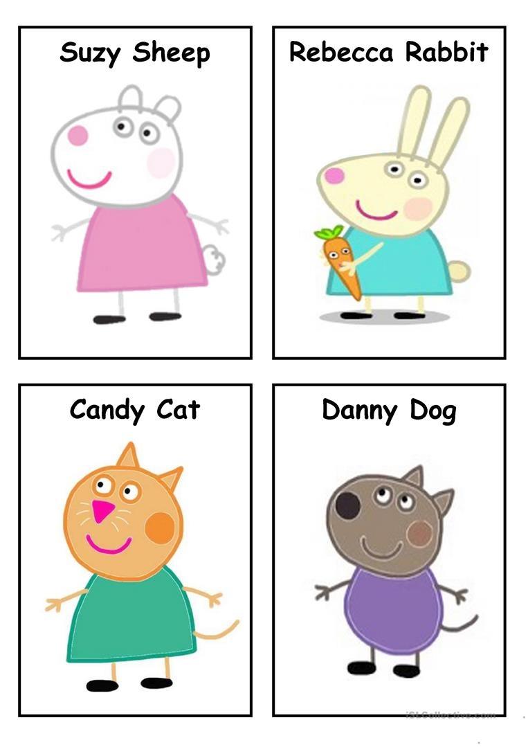 Peppa Pig - Characters (Set 3) Worksheet - Free Esl Printable - Peppa Pig Character Free Printable Images