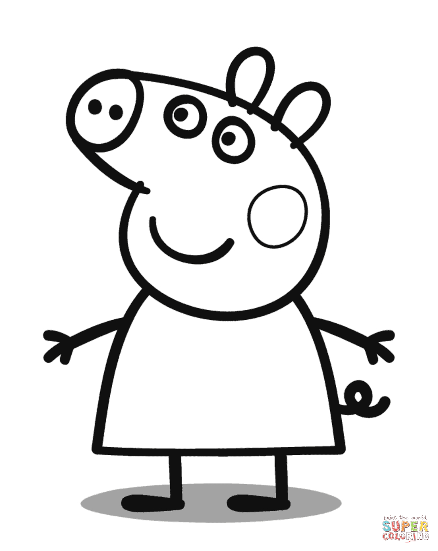 Peppa Pig Coloring Page | Free Printable Coloring Pages - Pig Coloring Sheets Free Printable