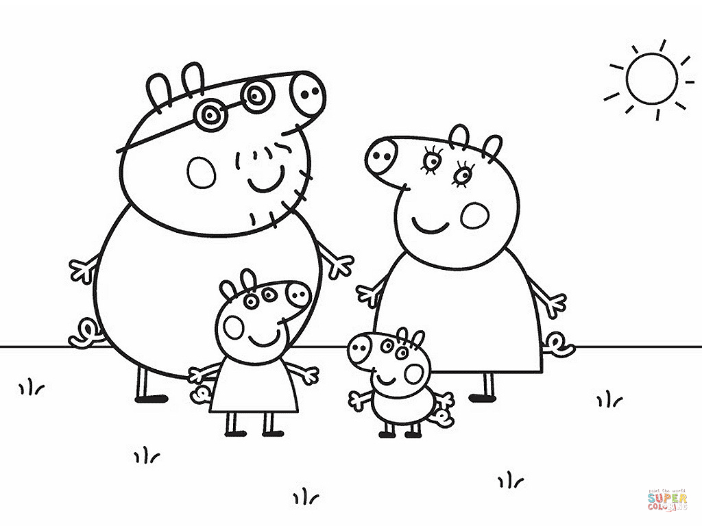 Peppa Pig Coloring Pages | Free Coloring Pages - Peppa Pig Character Free Printable Images
