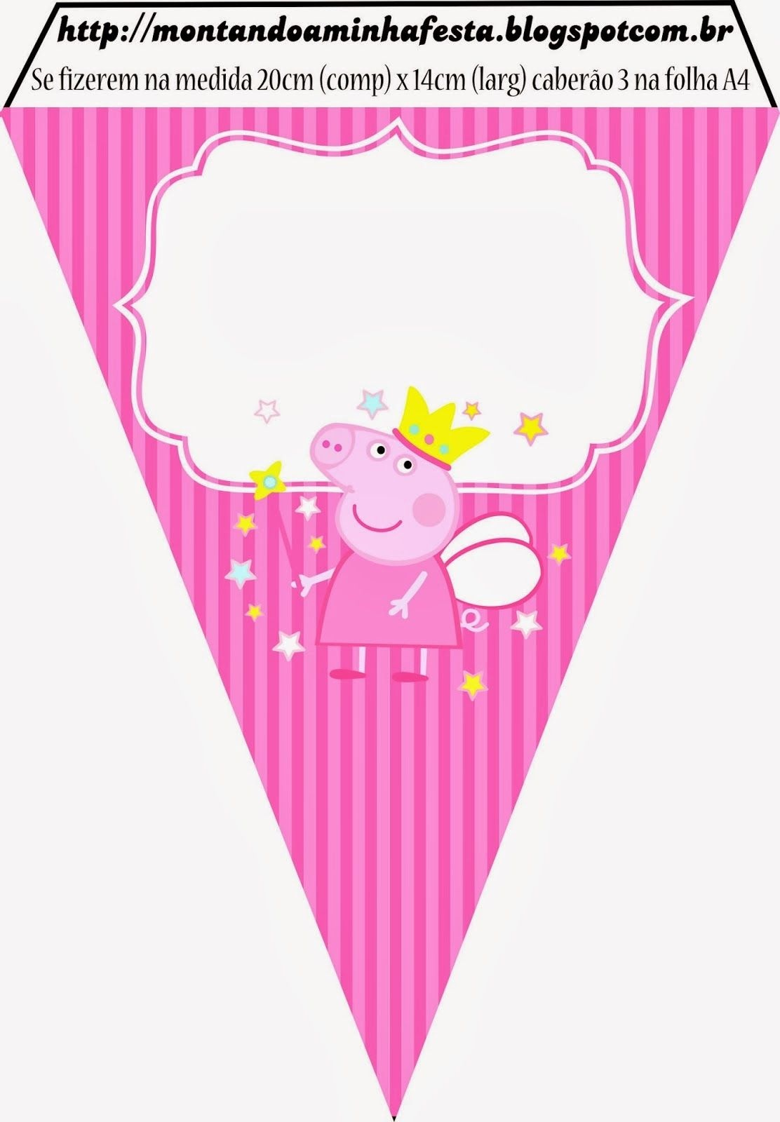 Peppa Pig Fairy: Invitations And Free Party Printables. - Could Use - Peppa Pig Birthday Banner Printable Free