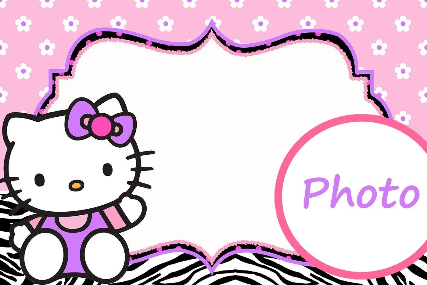 Personalized Hello Kitty Invitation Template | Hello Kitty | Hello - Free Printable Hello Kitty Pictures