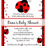 Photo : 12 Baby Shower Ladybug Image   Free Printable Ladybug Baby Shower Invitations Templates
