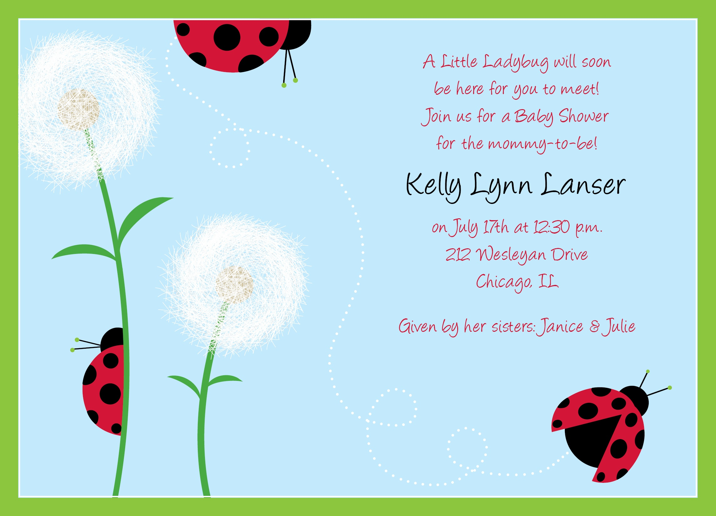 Photo : Nw Rlp 443 Jpg Image - Free Printable Ladybug Baby Shower Invitations Templates