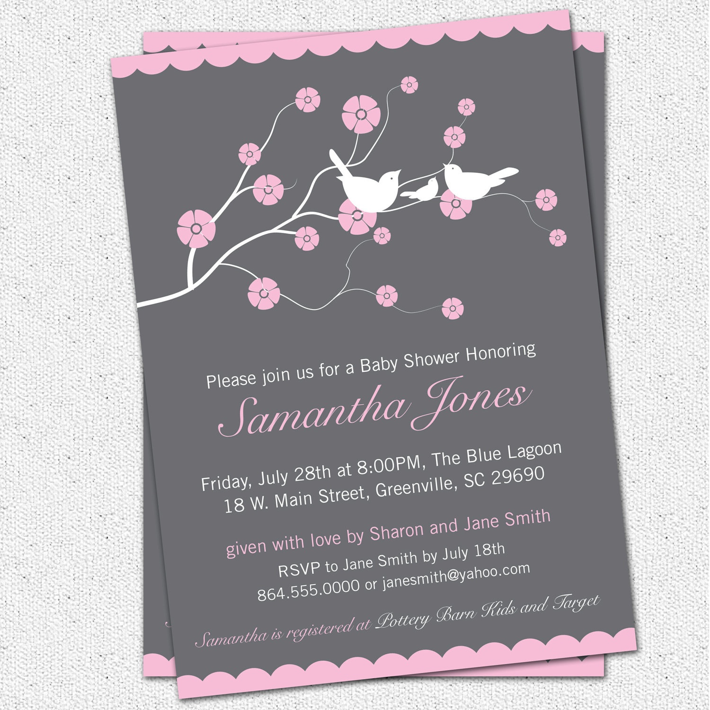 Photo : Printable Baby Shower Invitations Etsy Image - Free Printable Monkey Girl Baby Shower Invitations