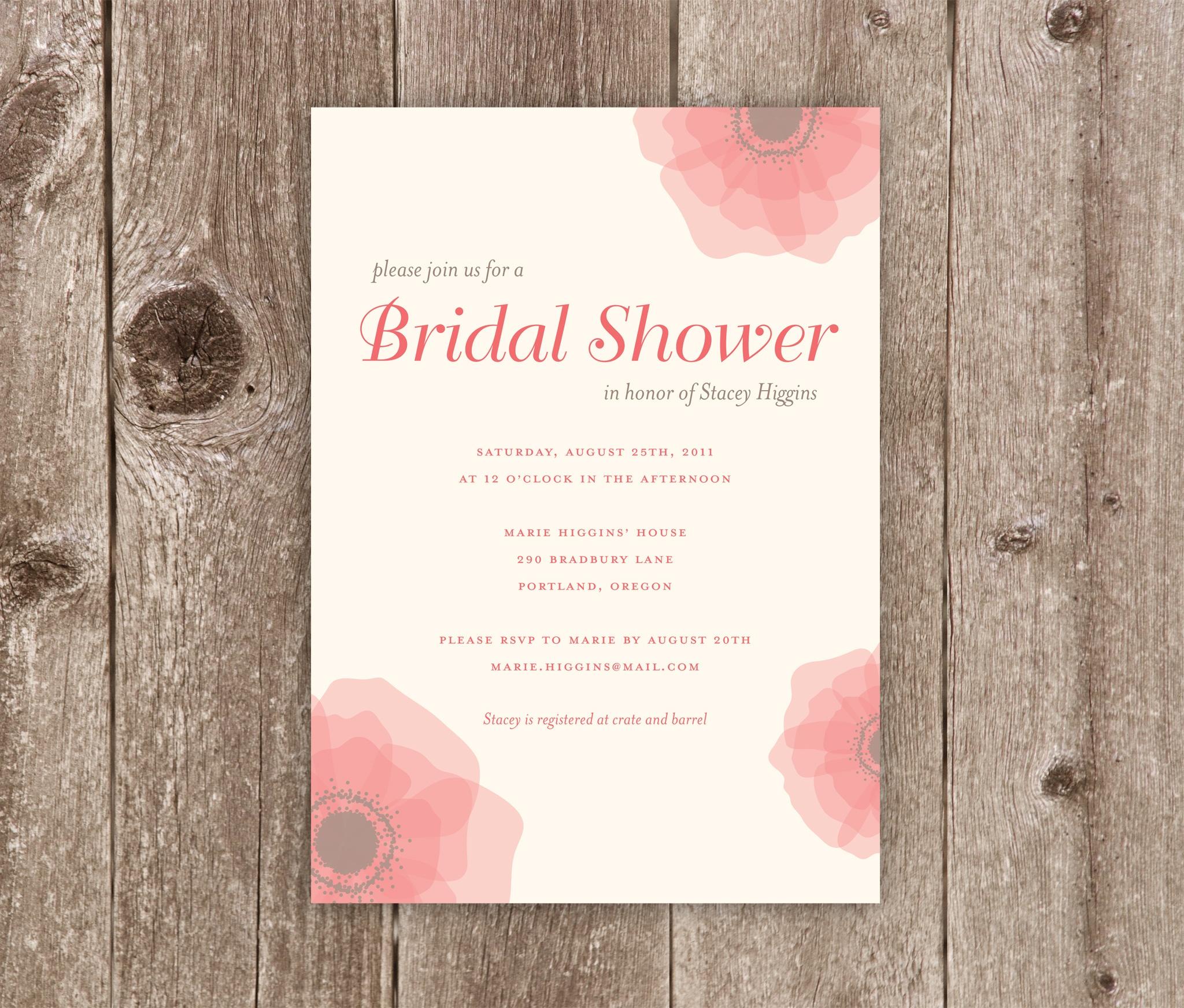 Photo : Printable Beach Bridal Shower Image - Free Printable Beach Theme Bridal Shower Invitations