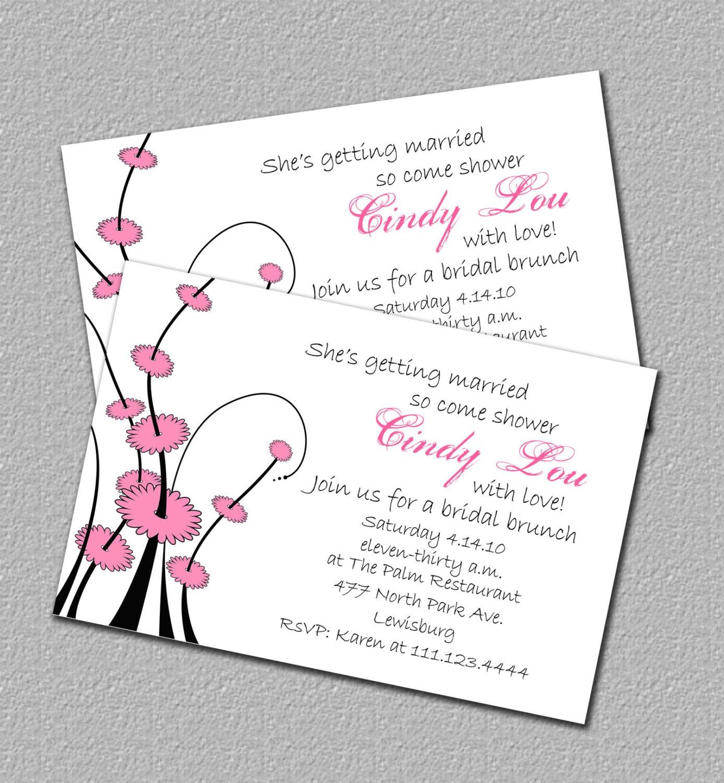 Photo : Printable Bridal Shower Invitation Image - Free Printable Beach Theme Bridal Shower Invitations