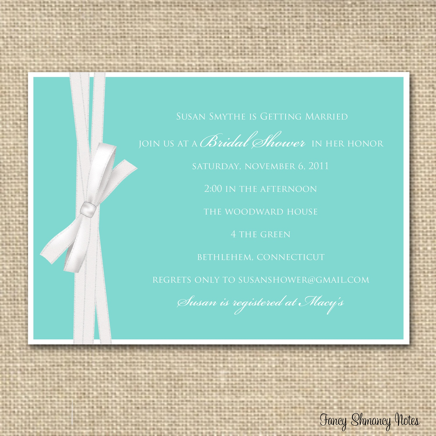 Photo : Sugar And Shimmer Party Image - Free Printable Beach Theme Bridal Shower Invitations