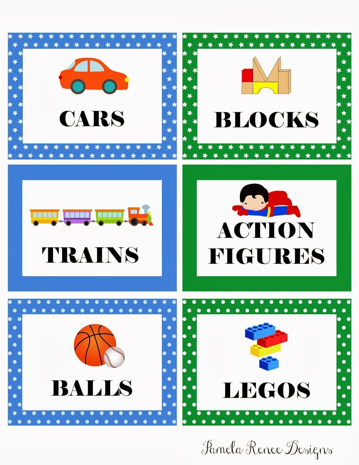 Picture Labels For Toys | Free Printable: Boy's Toy Bin Labels - Free Printable Classroom Tray Labels