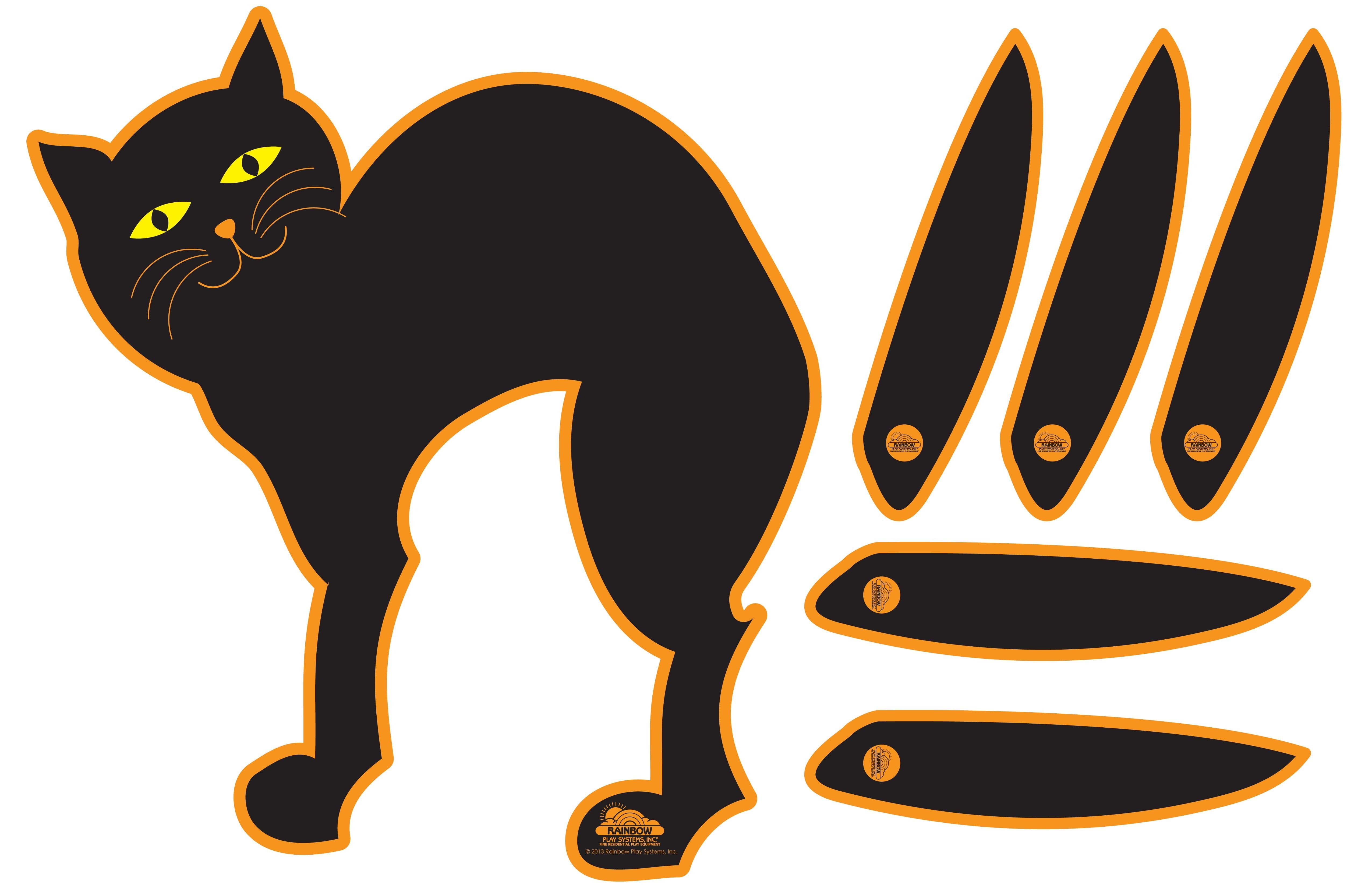 Pin The Tail On The Cat | Kids Holiday - Halloween Activities | Fun - Free Printable Pin The Tail On The Cat