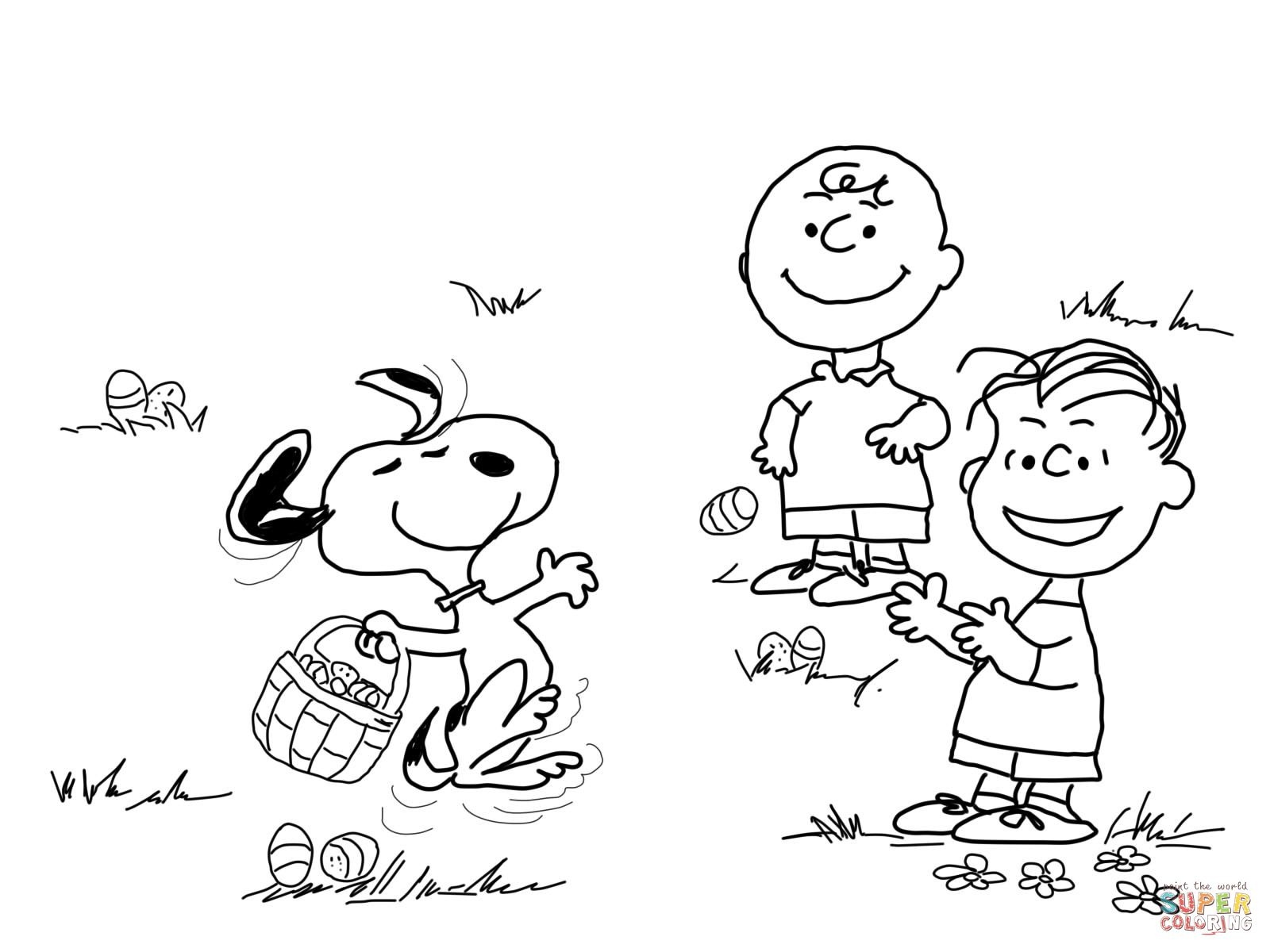Pinaaron Mickelburough On Aaron | Easter Coloring Pages - Free Printable Charlie Brown Halloween Coloring Pages