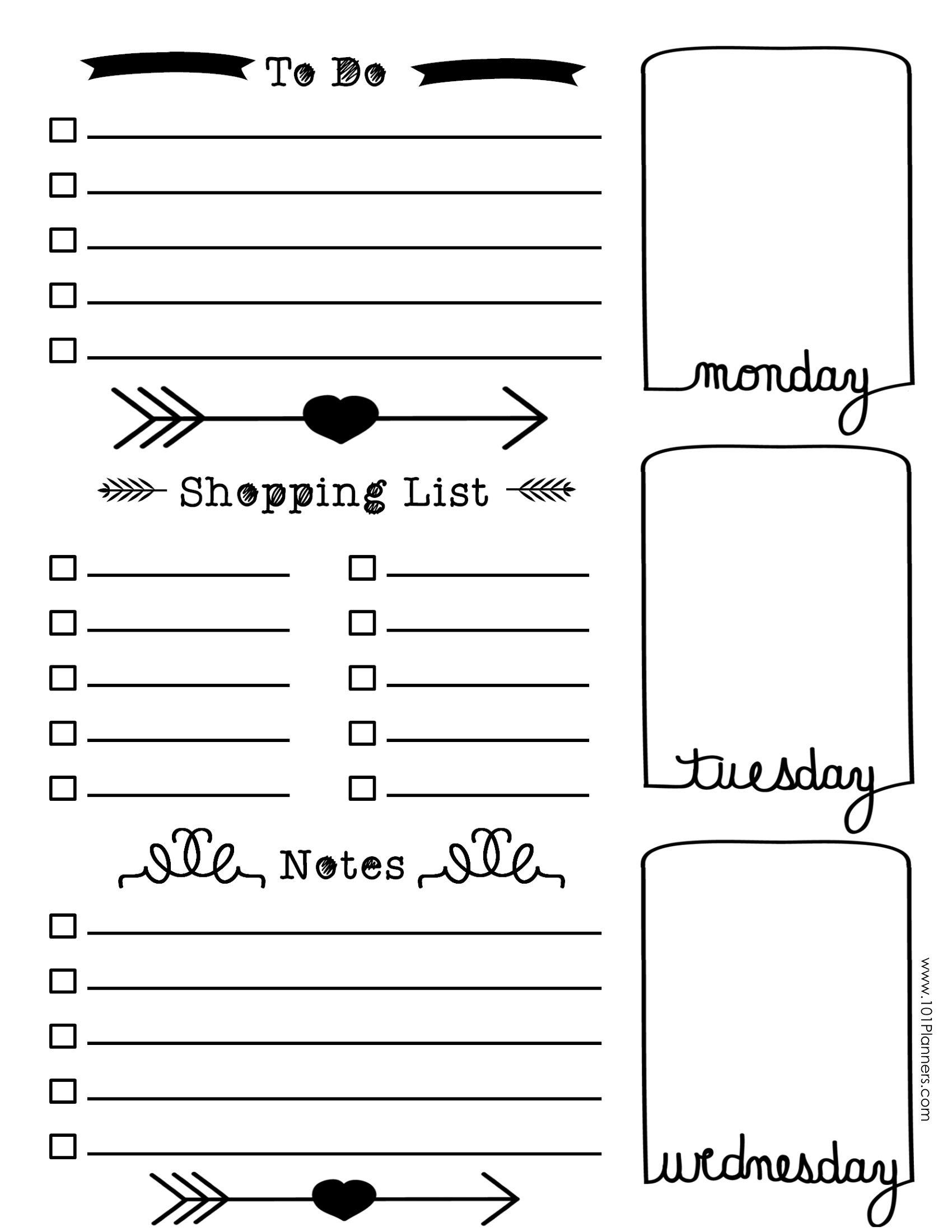 Pinamanda Mccarthy On Bullet Journaling! | Bullet Journal Layout - Free Printable Journal Templates