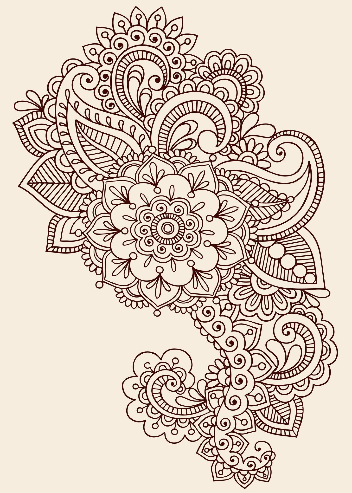 Pinbrittany Sullivan On Tattoos & Piercings * | Paisley Tattoos - Free Printable Henna Tattoo Designs