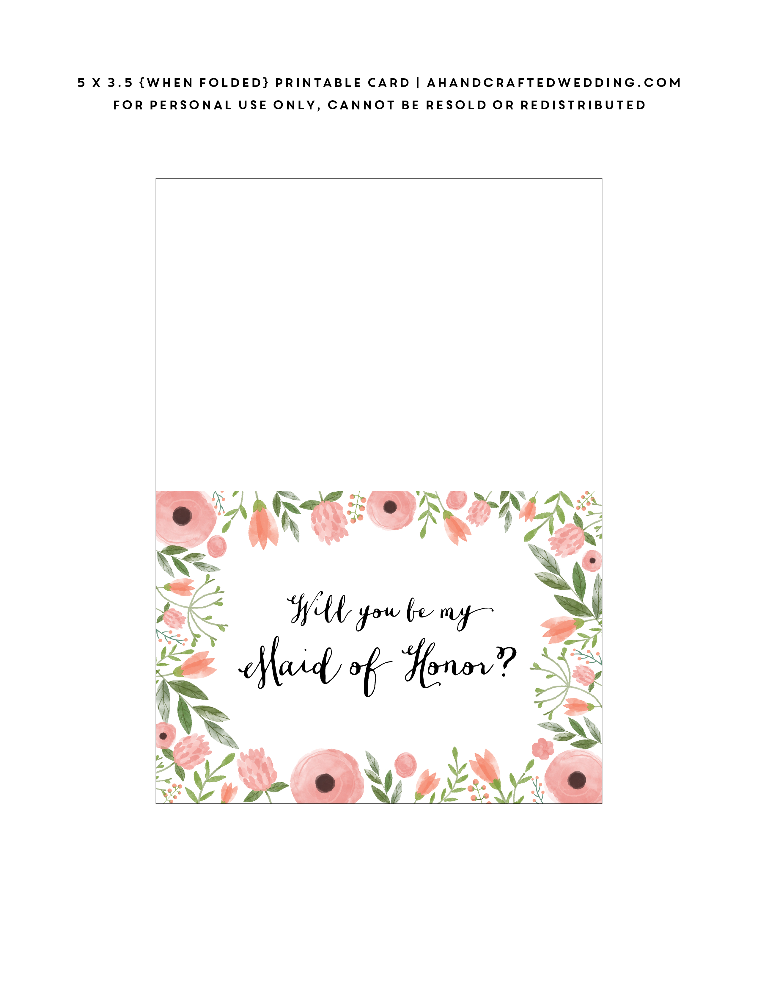 Pincandace Starr On Bridal Party | Bridesmaid Cards, Be My - Free Printable Will You Be My Maid Of Honor Card