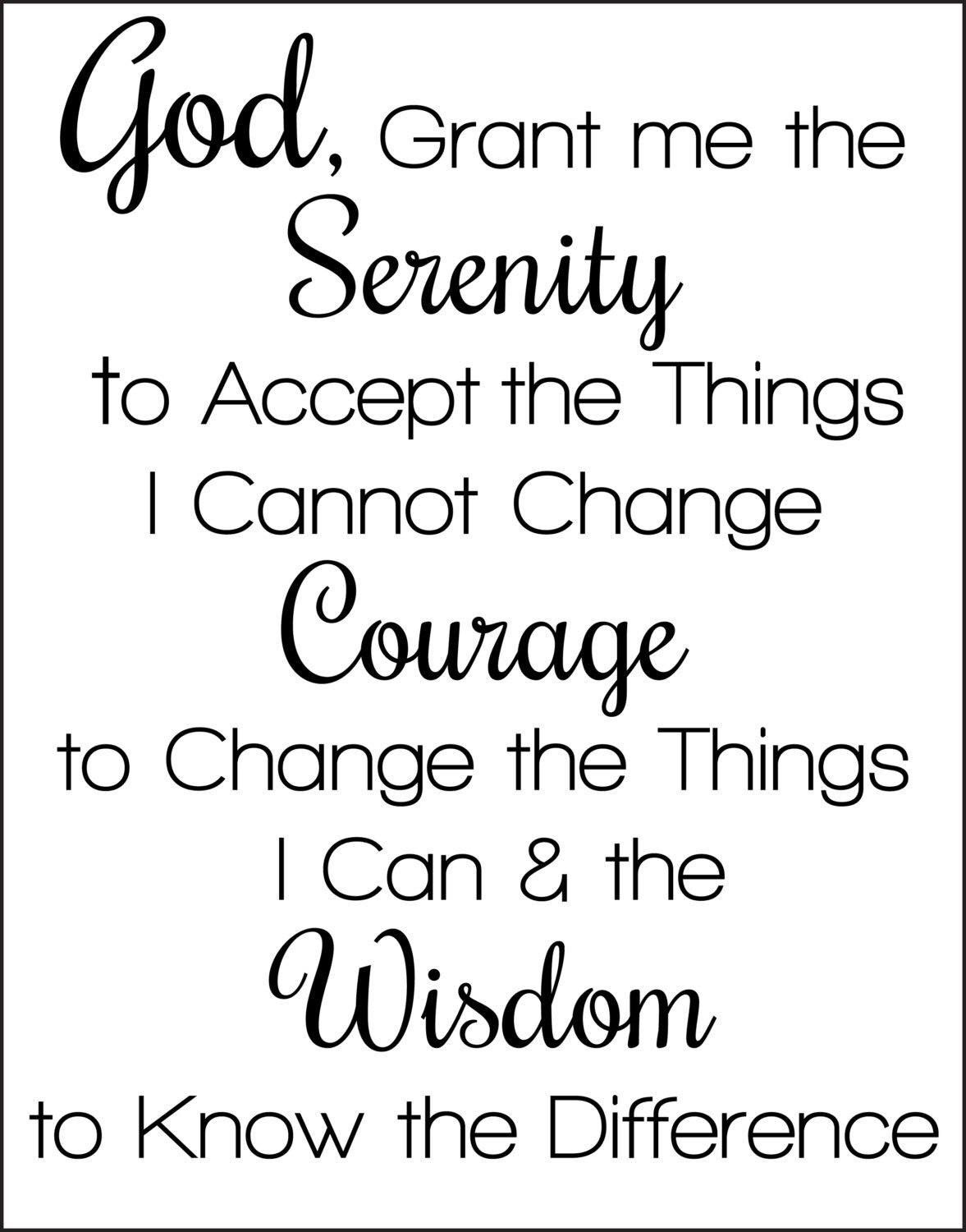 Pindebra Romine On Well Said | Serenity Prayer, Full Serenity - Free Printable Serenity Prayer