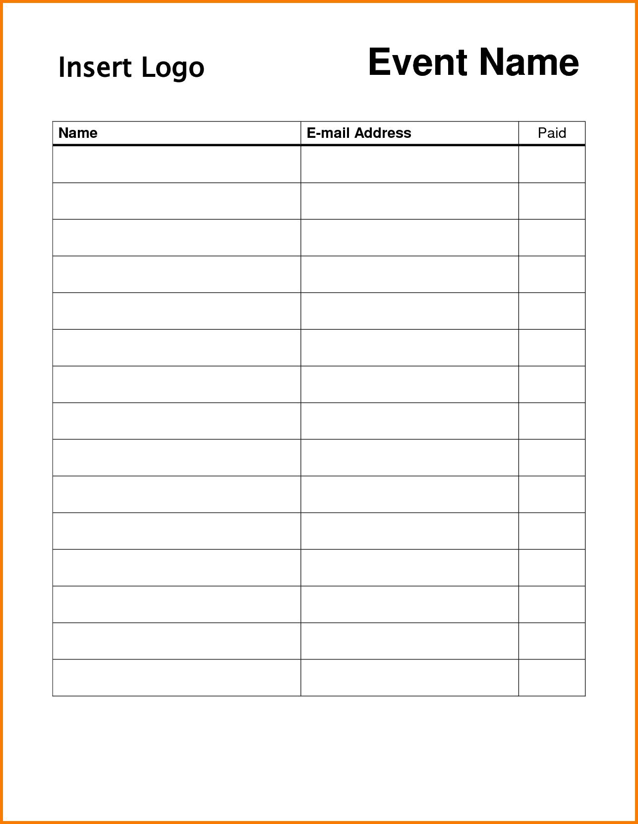 Pindonna Silva On Dojo Marketing Ideas | Sign In Sheet - Free Printable Sign In Sheet