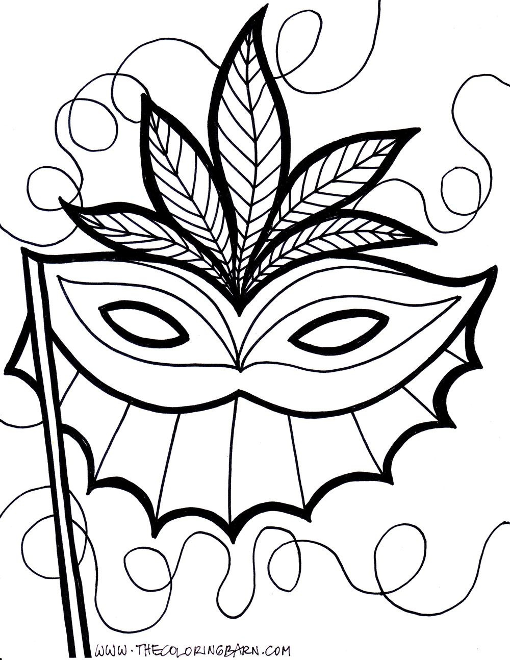 Pinelyssanda Desertsong On Embroidery Inspiration   Coloring - Free Printable Mardi Gras Masks